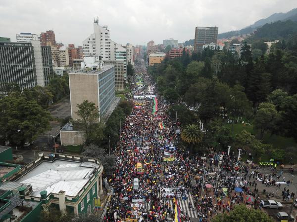 Miles de manifestantes marcharon en Bogotá entre noviembre y diciembre del 2019.  Foto: Juan Diego Buitrago - El Tiempo